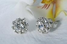 kolczyki z kryształkami, ślub