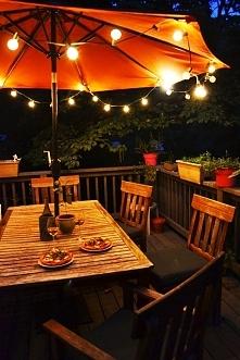 Girlanda - sznur żarówek. Fajna dekoracja oraz oświetlenie w Twoim ogrodzie. ...