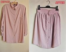 Przeróbka męskiej koszuli diy