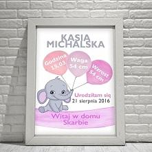 sklep.neinka.pl Metryczka dla dziewczynki