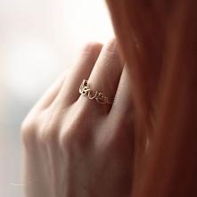 pierścionek love, WSZYSTKO -50% - sklep OTIEN - kliknij w zdjęcie
