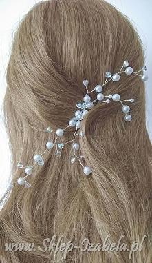 ozdoby do włosów, perełki, ślub