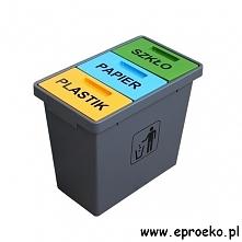 Pojemnik do segregacji odpadów Trioconcept o pojemności 40 litrów w odświeżon...