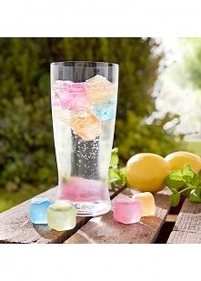 Kolorowe kostki lodu :)