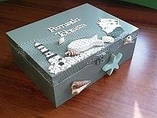 pudełko na skarby dziecka. Prezent na chrzciny.