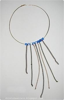 naszyjnik obręcz  z łańcuszków Diy