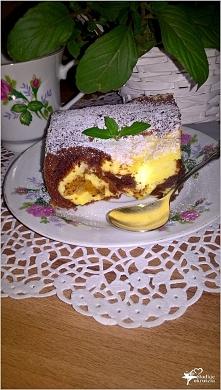 Ciasto czekoladowo serowe z...