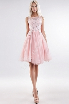 Tiulowa różowa sukienka lej...