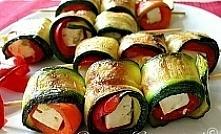 szaszłyki z cukinii, papryki i sera feta/mozarelli idealne na grilla