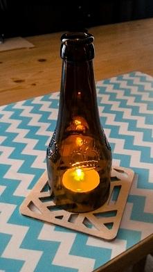 Mąż wypił piwo, a jak zrobiłam stylowy świecznik :)