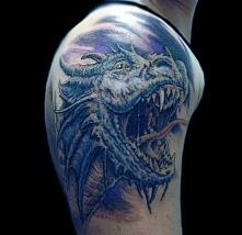 realistic dragon head tattoo