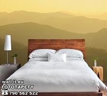 Fototapeta do sypialni - górski widok we mgle.
