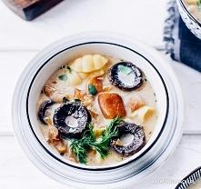 Zupa grzybowa Zupa, dzięki której cudowny, leśny zapach grzybów wypełni cały dom. – Ania Starmach 500 g grzybów leśnych (najlepiej prawdziwków lub podgrzybków – mogą być to grzy...