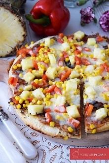 Hawajska pizza z patelni <3