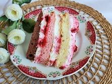Trójkolorowy Tort Malinowy - idealny upominek na Dzień Matki
