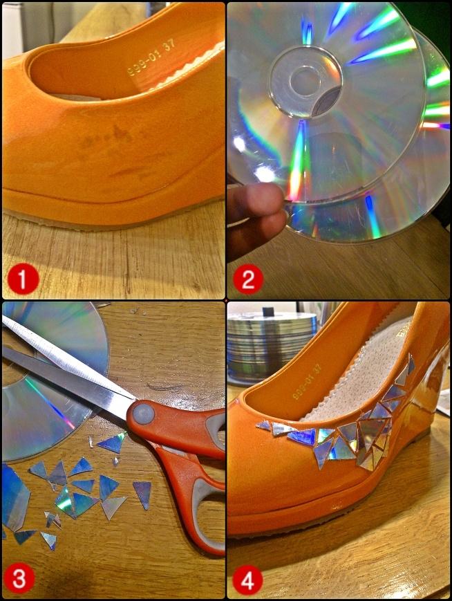 Rysy na butach, których nie da się usunąć? Można poradzić sobie z nimi w inny sposób, wystarczą stare płyty CD, DVD, nożyczki i klej na gorąco:)