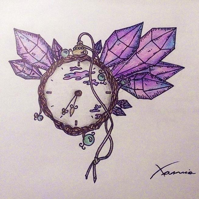 Zegar z kryształami