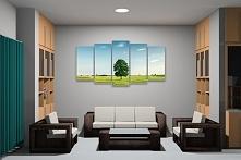 Obraz w salonie przedstawiający drzewo to świetny pomysł na wprowadzenie odro...