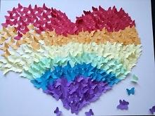 Serce z motyli