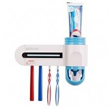 dozownik pasty do zębów i sterylizator szczoteczek