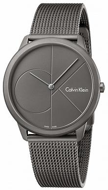 Calvin Klein K3M517P4 stylowy zegarek męski ze stali na bransolecie siatkowej...
