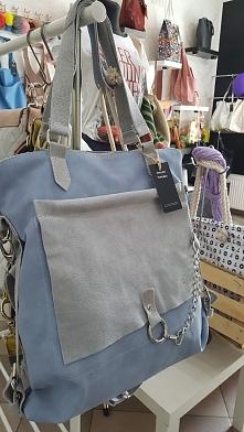torebka damska błękitna Fb/ Atelier Torebek wysyłka 24h