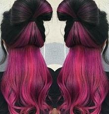 black fushia hair