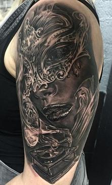 Venetian Masquerade Mask Tattoo