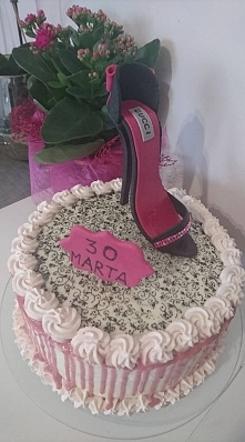 tort dla córki, szpilka z m...