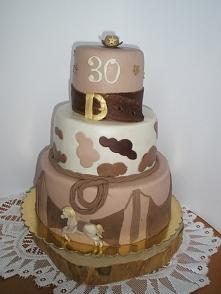 tort dla córki, impreza w stylu country