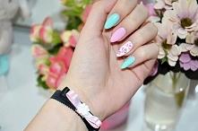 Moje paznokcie, które wygrały w konkursie:)