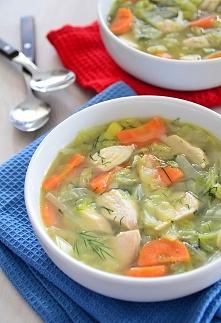 zupa kapuściana z kalarepą