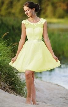 Żółta tiulowa sukienka. 219...