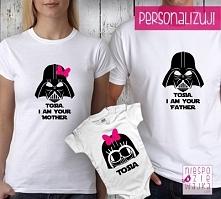 "Komplet 2 koszulek + body ""I am your father/mother"" Star Wars"
