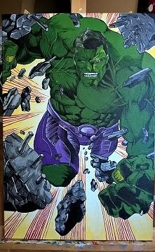 Incredible hulk. Akryl na płótnie, 40x60