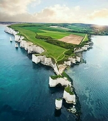 Kredowe klify Old Harry Rocks, Anglia