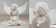 angel handmade doll tilda