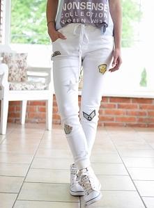 Spodnie LOUISE naszywki białe. Ottanta - sklep online