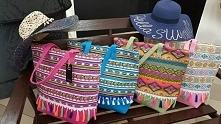 Torebki plażowe w azteckie wzory Fb/ Atelier Torebek wysyłka 24h