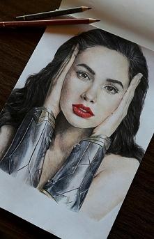Jedno z ostatnich moich zamówień- Wonder Woman ;) Rysunki, portrety na zamówi...