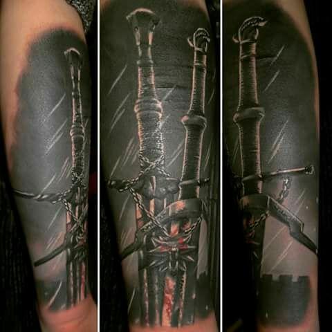 Wiedźmin Tattoo Na Tattoo Zszywkapl