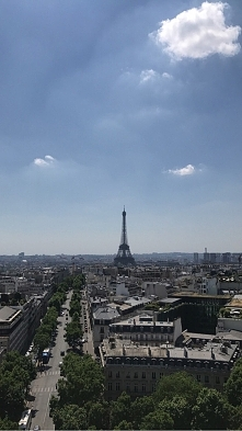 Mój widok na Paryż
