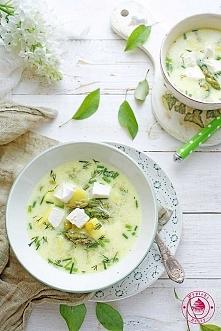 Zupa szparagowa z fetą - Wypieki Beaty