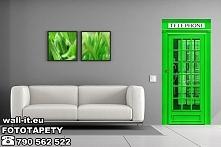 Naklejki na drzwi angielska budka telefoniczna. W ofercie Wall-it dostępne kolory : czerwony, biały, szary, zielony i różowy. Inne kolory po konsultacji.