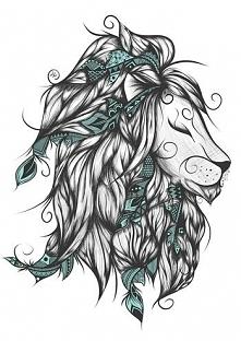 Artystyczny lew