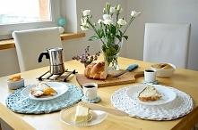 Jak wykorzystać papierową wiklinę w domu? Biała Morela zaprasza na śniadanie :)