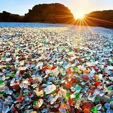 Szklana plaża w Fort bragg, Kalifornia. <3