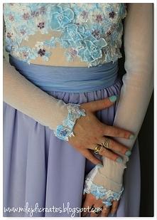 DIY Fioletowa SUKNIA - body + spódnica. Efekt kilku miesięcy mojej pracy