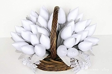 Podziękowania dla gości :) tulipany z datą uroczystości - przemiły sposób :)) Chrzest Święty, Ślub, Rocznice