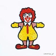 Broszka Ronald wyszywana ko...